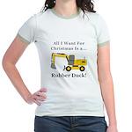 Christmas Rubber Duck Jr. Ringer T-Shirt