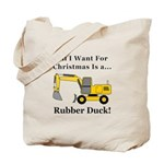 Christmas Rubber Duck Tote Bag