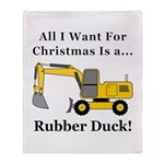 Christmas Rubber Duck Throw Blanket