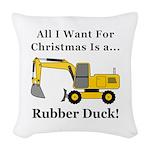Christmas Rubber Duck Woven Throw Pillow