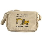 Christmas Rubber Duck Messenger Bag