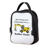 Christmas Rubber Duck Neoprene Lunch Bag