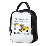 Christmas Rubber Duck Neoprene Lunch Bag