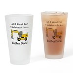 Christmas Rubber Duck Drinking Glass