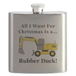 Christmas Rubber Duck Flask