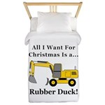 Christmas Rubber Duck Twin Duvet