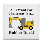 Christmas Rubber Duck Tile Coaster
