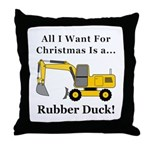 Christmas Rubber Duck Throw Pillow