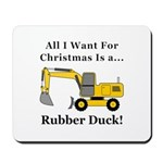 Christmas Rubber Duck Mousepad