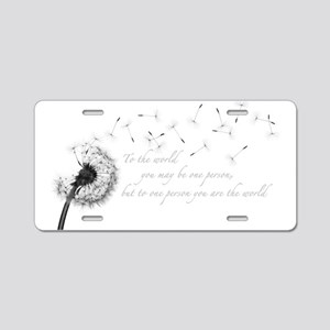 Dandelion Inspiration Aluminum License Plate