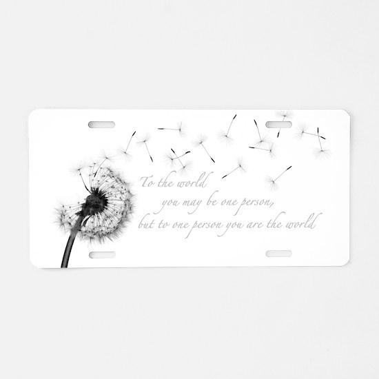 Dandelion Inspiration Aluminum License Plate