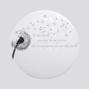 Dandelion Inspiration Round Ornament