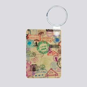 Vintage Passport Stamps Keychains