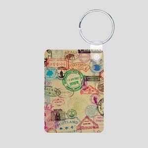 Vintage Passport Stamps Keychains