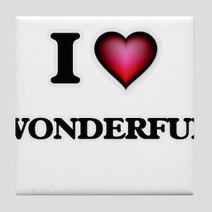I love Wonderful Tile Coaster