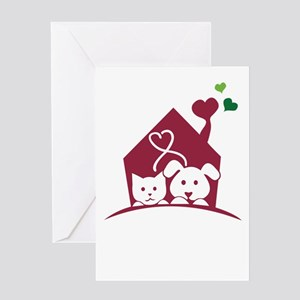 our pets are our family Greeting Cards