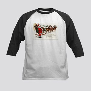Merry Christmas Greetings Santa An Baseball Jersey