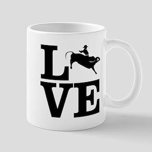 i love bullriding Mugs