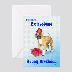 Birthday Card For A Ex Husband With Boxer Puppy