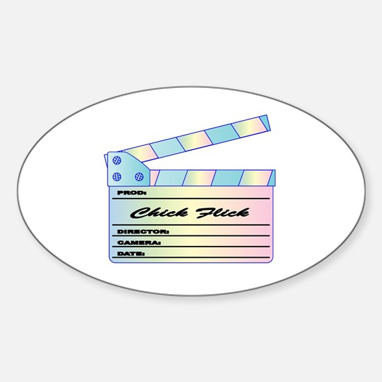Funny Chick flick Sticker (Oval)
