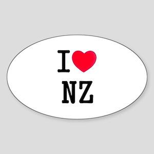 I love NZ Oval Sticker
