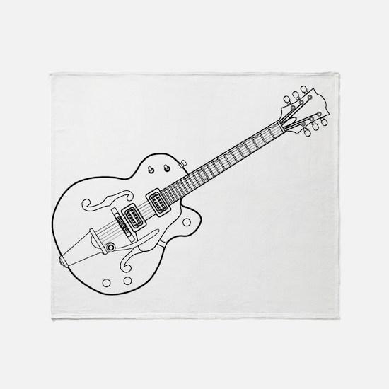 Cute Guitar picks Throw Blanket