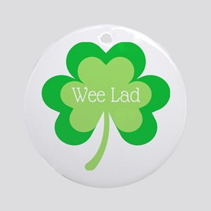 Wee Lad Round Ornament