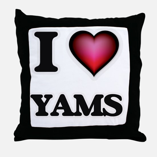 I love Yams Throw Pillow