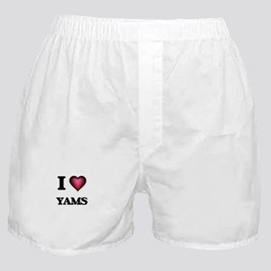I love Yams Boxer Shorts