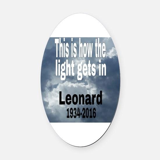 Cute Leonard Oval Car Magnet