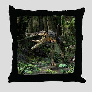 Dinosaur Spinosaurus Throw Pillow