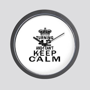 Turning 42 And I Can Not Keep Calm Wall Clock