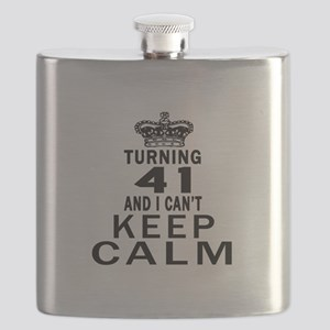 Turning 41 And I Can Not Keep Calm Flask