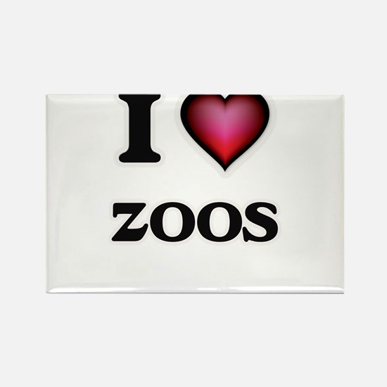 I love Zoos Magnets
