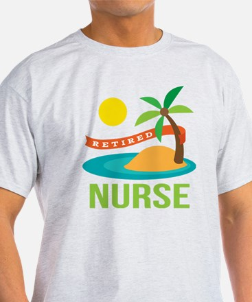 Retired Nurse (tropical) T-Shirt