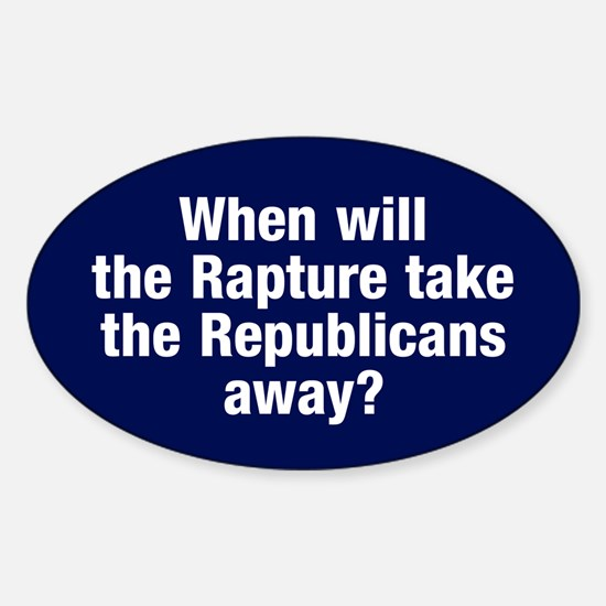 Rapture The Republicans Oval Decal