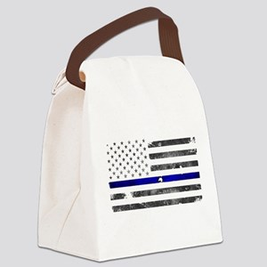 Blue Lives Matter - Police Office Canvas Lunch Bag