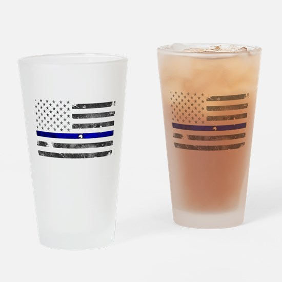 Blue Lives Matter - Police Officer Drinking Glass