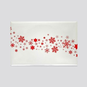 Red Christmas Snowflake Banner Magnets