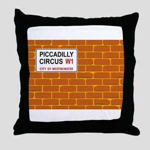 Piccadilly Circus Wall Throw Pillow