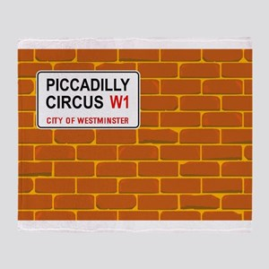 Piccadilly Circus Wall Throw Blanket