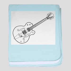 Country and Western Guitar Outline baby blanket
