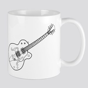 Country and Western Guitar Outline Mugs
