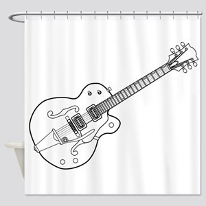Country and Western Guitar Outline Shower Curtain