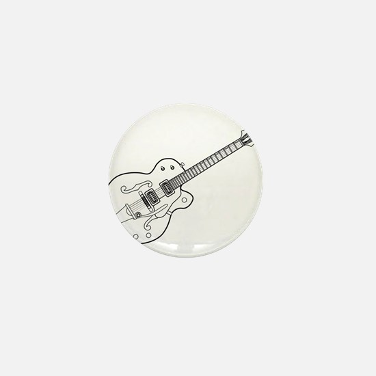 Country and Western Guitar Outline Mini Button
