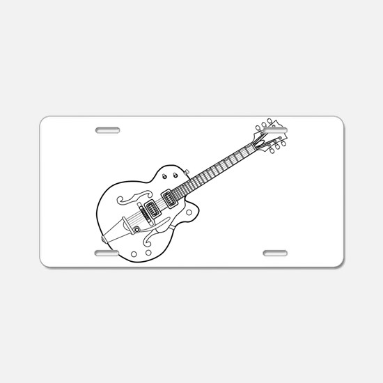 Country and Western Guitar Aluminum License Plate
