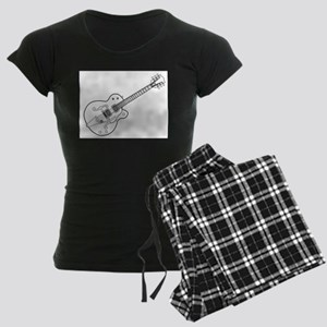 Country and Western Guitar Outline Pajamas
