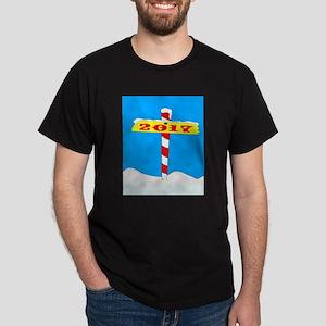 North Pole 2017 Sign T-Shirt
