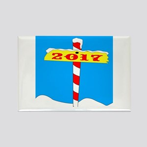 North Pole 2017 Sign Magnets