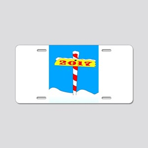 North Pole 2017 Sign Aluminum License Plate